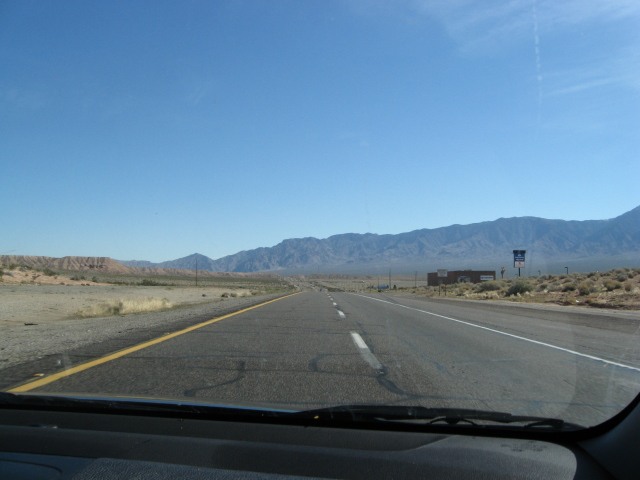 On I-15, heading northeast out of Vegas--it isn't the most exciting terrain in the world--yet.