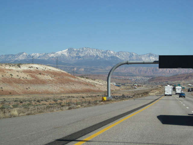 With one canyon behind us, even more snow appears in the distance. It may seem commonplace to most of you, but snow is a big deal to me. I just don't ever get any in Phoenix.