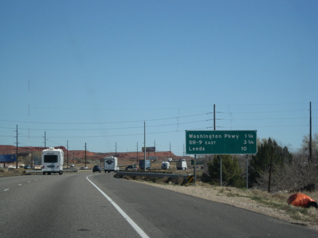 Coming into St. George.
