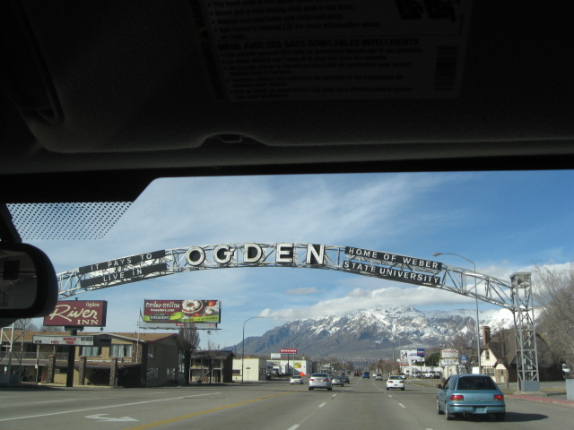 After leaving the island, I had Henry take me further north to Ogden, Utah. This is the town where I was actually born, and I haven't been here since I was a baby--totally don't remember it, and would claim I've never seen it before.  It was a mixture of old and new, and I kind of liked the looks of it.