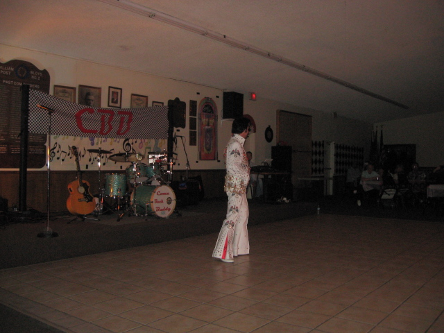 The first entertainer of the night was none other than Elvis, the King of Rock and Roll.  Actually, it was  Bret Kaiser, the best Elvis tribute artist in Arizona, and he put on a very fine show.